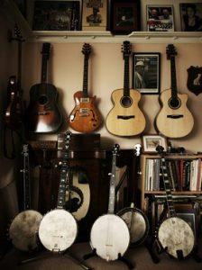 Guitars banjos etc